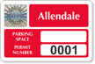Create Parking Space, Permit Number Tamper-Evident Hologram Decals