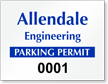 Custom ForgeGuard Tamper Evident Horizontal Parking Permit Security Insert