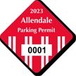 Diamond Windshield Parking Decals 1¾ in.