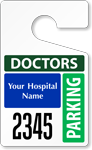 Plastic ToughTags™ for Doctors Parking Permits