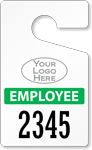 Plastic ToughTags™ for Employee Parking Permits