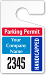 Plastic ToughTags™ for Handicapped Parking Permits