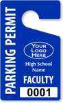 Plastic ToughTags™ for High School Parking Permits