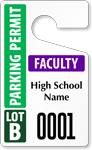 Plastic ToughTag™ for High School Parking Permits