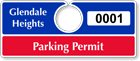 Plastic ToughTags™ Parking Permits, Horizontal