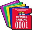 Custom Member Parking Mini Hang Tag
