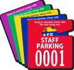 Custom Staff Parking Mini Hang Tag