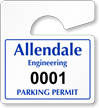 Plastic ToughTags™ Parking Permit Mini Template