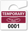 Plastic ToughTags™ Parking Permits, Mini