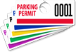 ToughTag™ Mirror Parking Permits (non-blocking)