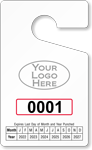 Punch Out Parking Permit Tag With Logo