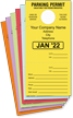 Monthly Color-Coded Parking Large Tags, Custom Imprint, Design #1 onmouseover =