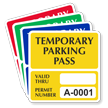 Temporary Parking Pass Numbered Decal