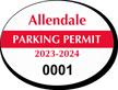 Oval Windshield Parking Decals