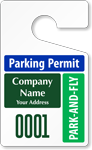 Plastic ToughTags™ for Park-and-Fly Parking Permits