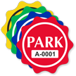 Park Wavy Circle Shaped Sticker