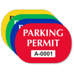 Parking Permit Capsule Shaped Sticker
