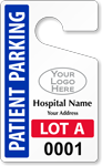 Plastic ToughTags™ for Patient Parking Permits
