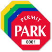 Permit Park Octagon Shaped Sticker