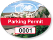 Picture Based Custom Parking Permit Mirror Decal