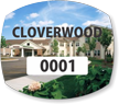Picture Based Customizable Parking Permit Mirror Decal