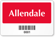 Rectangular Barcode Parking Label