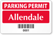 Parking Label With Barcodes  > 2