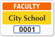 Faculty Window Decal 2 in. x 3 in.