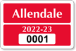 Parking Labels - Design LT4