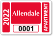 Parking Labels - Design LT6