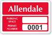 Parking Labels - Design LT8