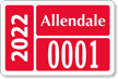 Parking Labels - Design LT10