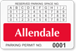 Parking Labels - Design LT14