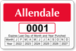 Parking Labels - Design LT16