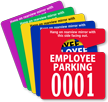 Employee Parking Mirror Hang Tag, Small Size