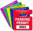 ToughTags™ Permits, Small size, Choice of 9 colors onmouseover =