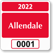Parking Labels - Design SQ1