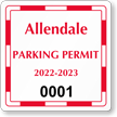 Parking Labels - Design CS1