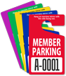 Custom Member Parking Standard Hang Tag