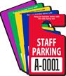 Custom Staff Parking Standard Hang Tag