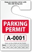 Standard Parking Permit Hang Tag onmouseover =