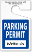 Standard Parking Permit Hang Tags, Blue, No Numbering onmouseover =