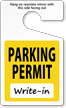 Standard Parking Permit Hang Tags, Yellow, No Numbering onmouseover =