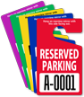 Reserved Parking Permit Mirror Hang Tag