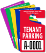Tenant Parking Permit Mirror Hang Tag