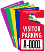 Visitor Parking Permit Mirror Hang Tag