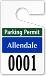 Plastic ToughTags™ Parking Permit Template