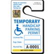 Handicapped Parking Permit, ToughTag™, Blue