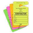 Contractor Parking Pass, Personalizable, Fluorescent Yellow