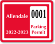 Parking Labels - Design CD3